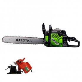 Tronçonneuse 58 cc démarrage facile Kapotha avec 2 Chaînes + Affûteuse