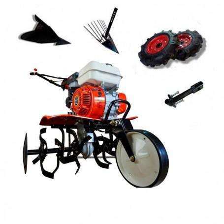Motobineuse thermique Powerground  700 OHV, 208 cc, 7 hp, 90 cm + Roues agricole 400 + buteur + arrache patates