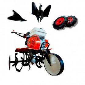 Motobineuse thermique Powerground 700 OHV, 208 cc, 7 hp, 90 cm + Kit agricole + charrue réversible
