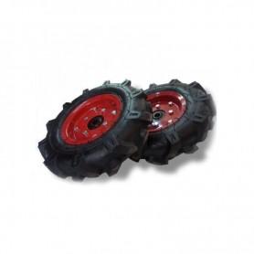 Roues pneumatique 400x8 avec axe incus pour Motobineuse à essence Powerground et Kapotha
