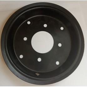 Partie de jante avec passage valve pour roue de 400 de motobineuse 700 kapotha/powerground
